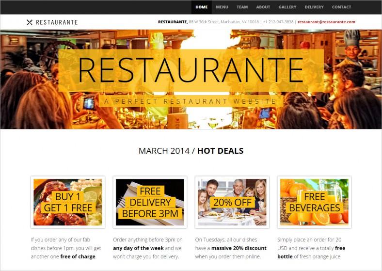 restaurante responsive html5 template 788x559