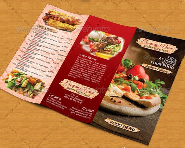 restaurent food menu template download