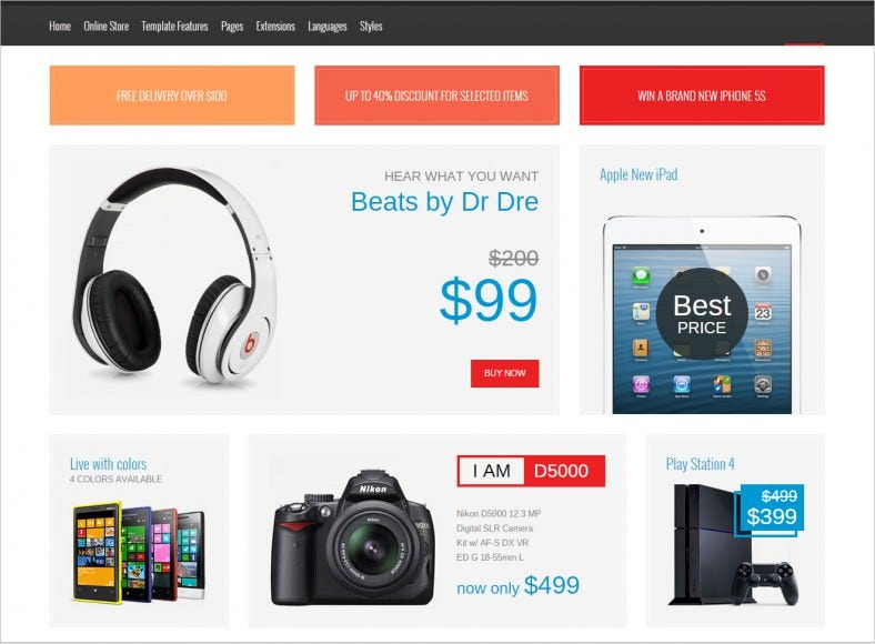 retail electronics joomla template 48 788x580