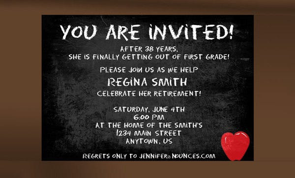 Retirement Party Invitation Template Free Download  Free Invitation Download