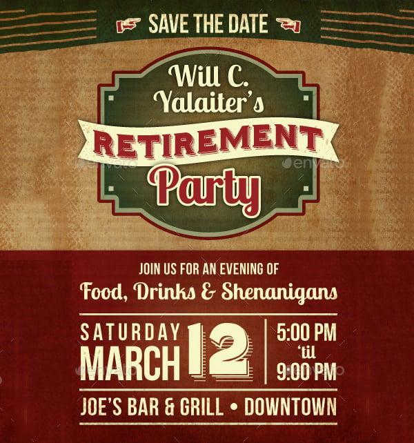30 retirement party invitation design templates psd ai vector