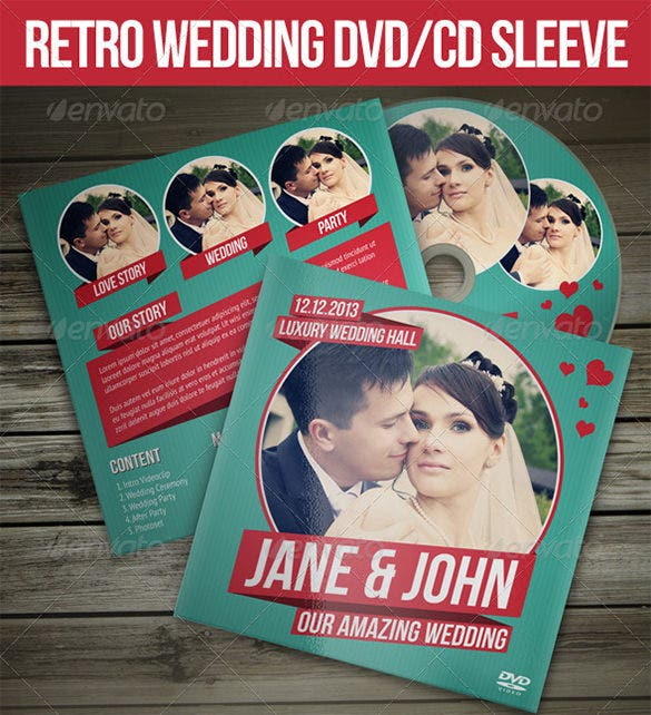 retro wedding psd digital album templates