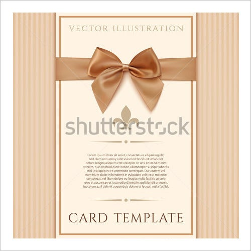 ribbon wedding menu template