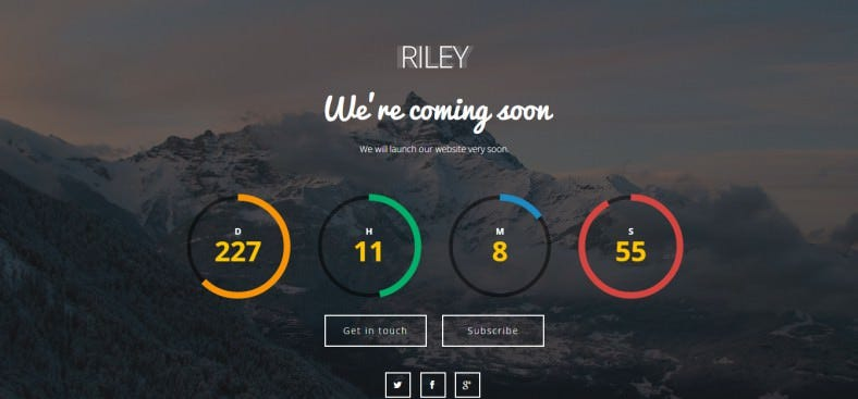 riley html5 coming soon page template 6 788x367