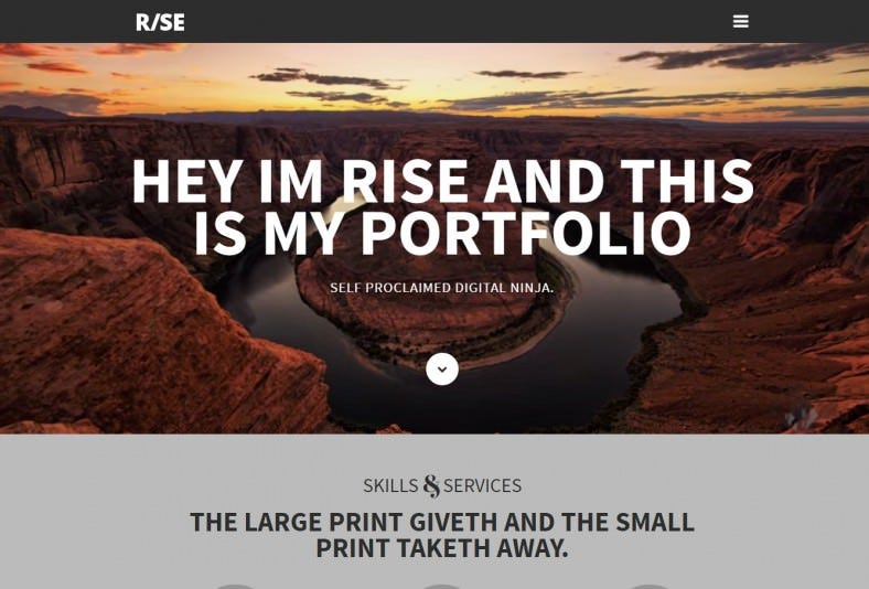 rise responsive one page parallax drupal 7 theme1 788x534