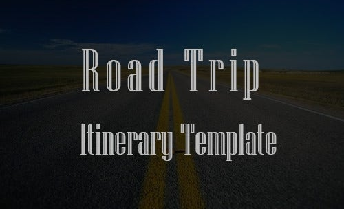 road trip itinerary template featured image