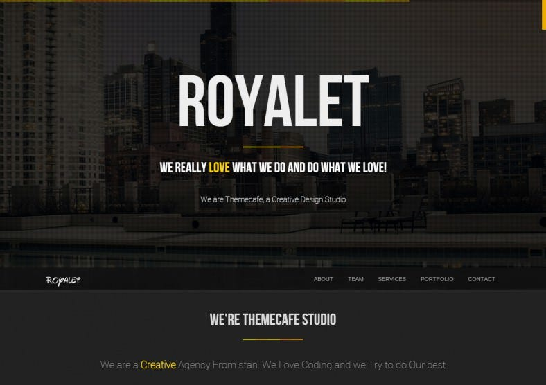 royalet one page bootstrap drupal theme 788x556