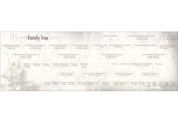 rustic family tree design