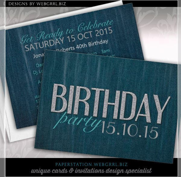 sample birthday party invitation card