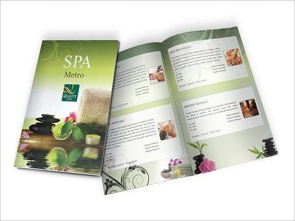 Awesome Sample Cute Spa Menu Template