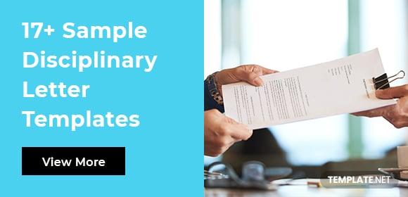 sampledisciplinaryletter