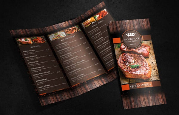 Food menu template free word pdf psd eps