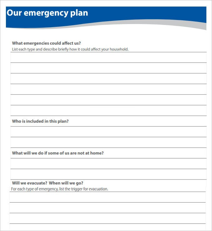 9+ Home Evacuation Plan Templates - Free Pdf Documents Download