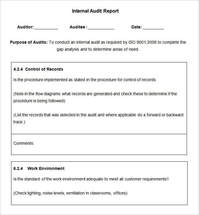 reporting format template