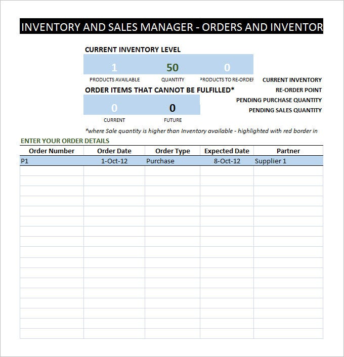 sample inventory management template