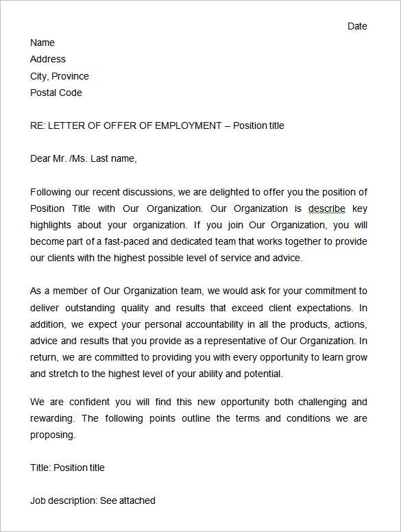 System Administrator Offer Letter Sample
