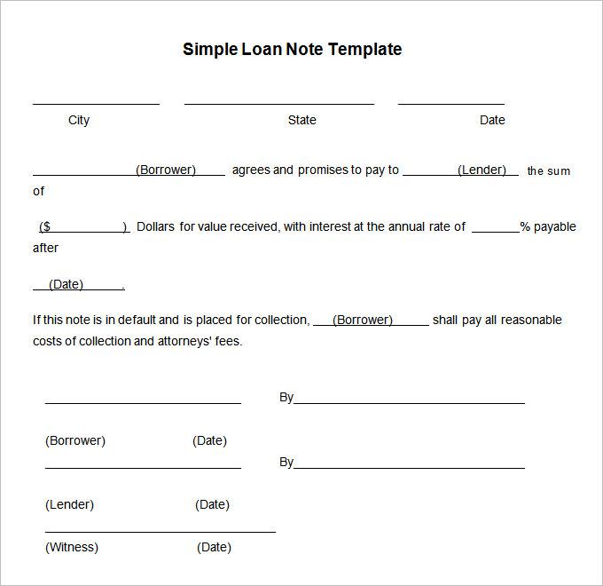 loan promissory note template free .