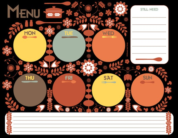 sample menu planner download