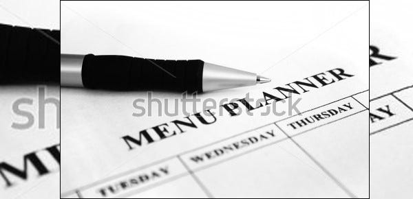 sample menu planner templete download
