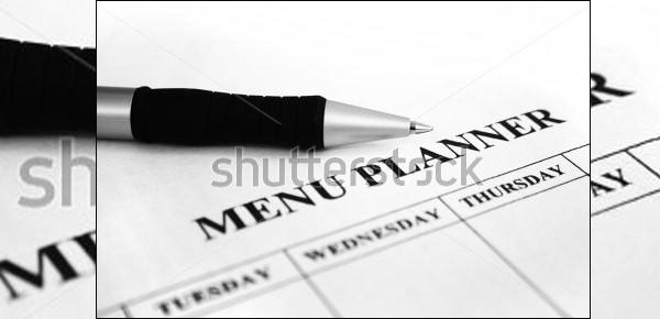 sample menu planner templete download