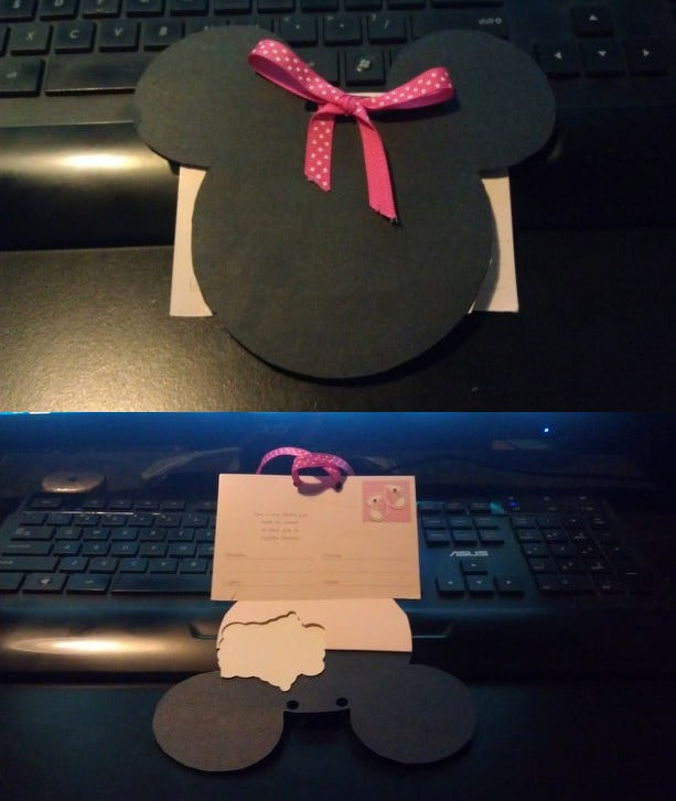 sample minnie mouse invitations