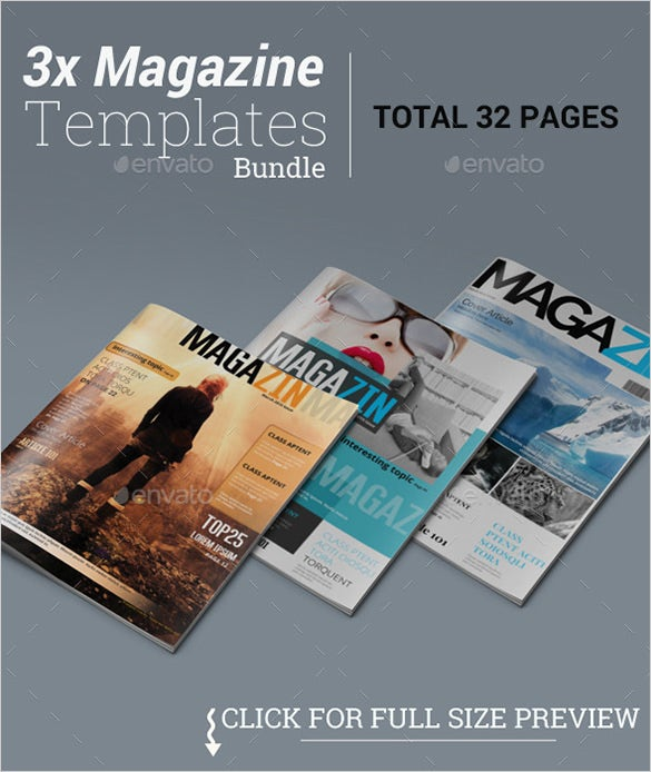 sample news magazine psd template