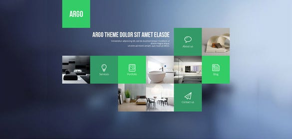 sample one page portfolio psd template
