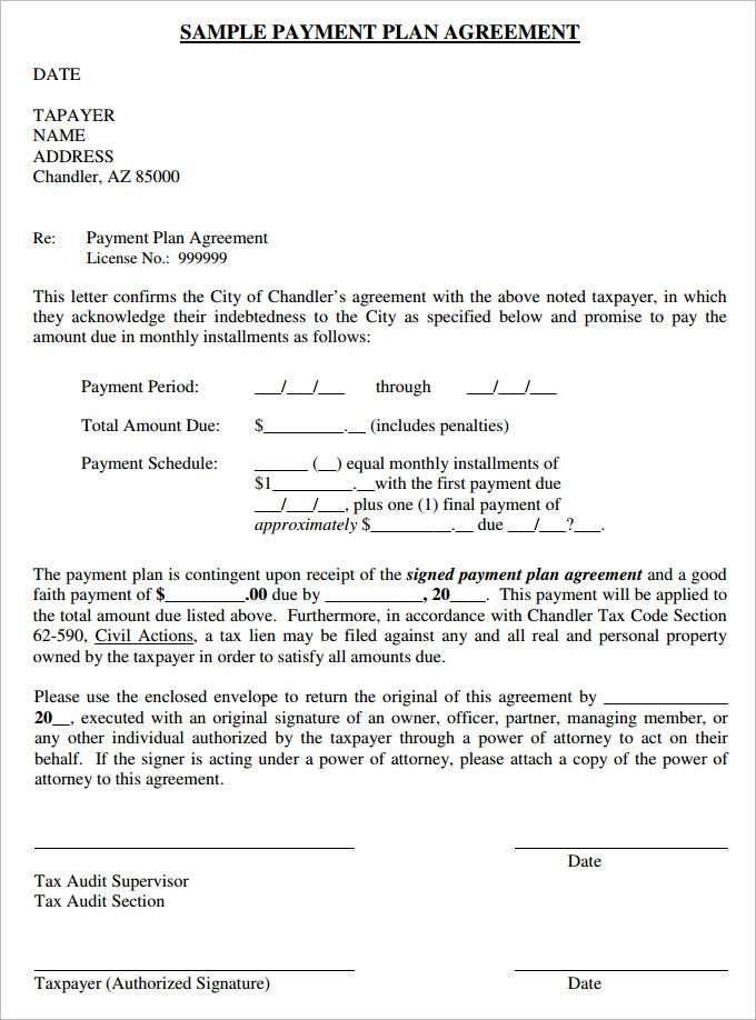 sample of payment agreement payment agreement samples - Ukran.soochi.co