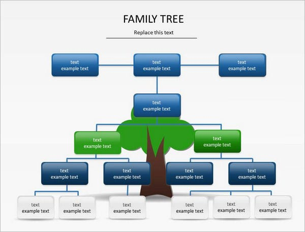 Powerpoint Family Tree Template   Free Sample Example Format