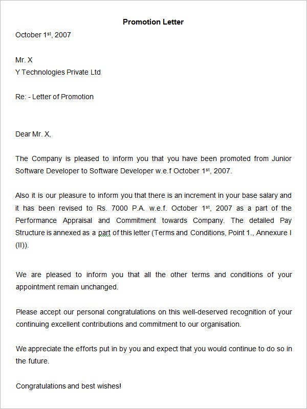 Sample-Promotion-Letter-Template Sample Application Letter For Hr Istant on complaint process, manager reference, manager offer, generalist cover, assistant cover, administrator cover, coordinator cover, resume cover, job cover, advisor cover,