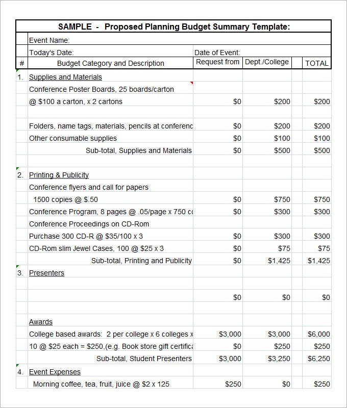 Budget Proposal Templates  Free Word Pdf Documents Download