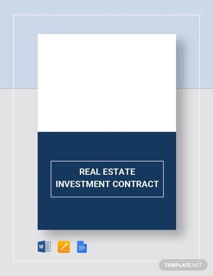 sample real estate investment contract template