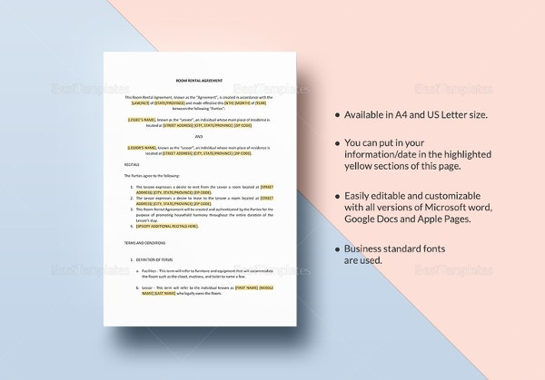 sample-room-rental-agreement