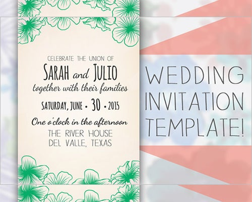 sample wedding formal invitation template