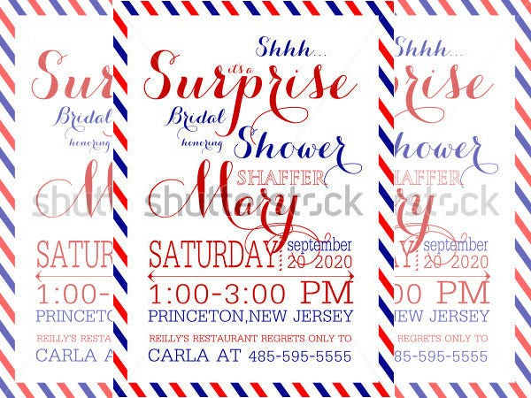 sample wedding shower invitation template download