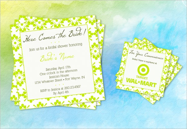 27 Wedding Shower Invitation Templates PSD Invitations – Sample of Bridal Shower Invitation