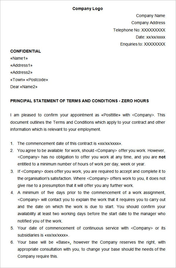 0 hours contract template template zero hours contract images template design ideas