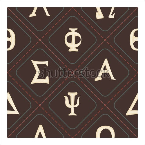 seamless greek alphabet letters