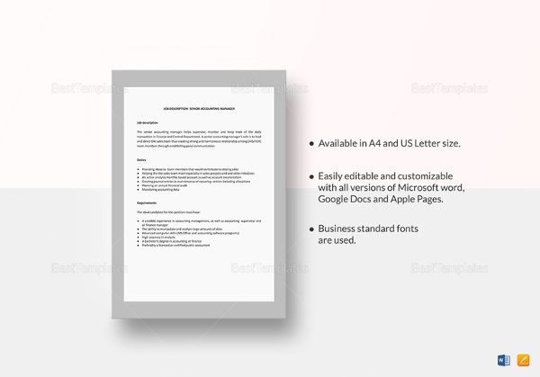 Hr Job Description Templates  Hr Templates  Free  Premium