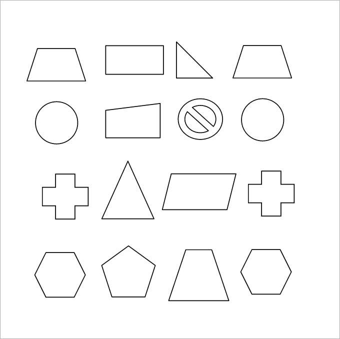 shapes rotational symmetry sheet template