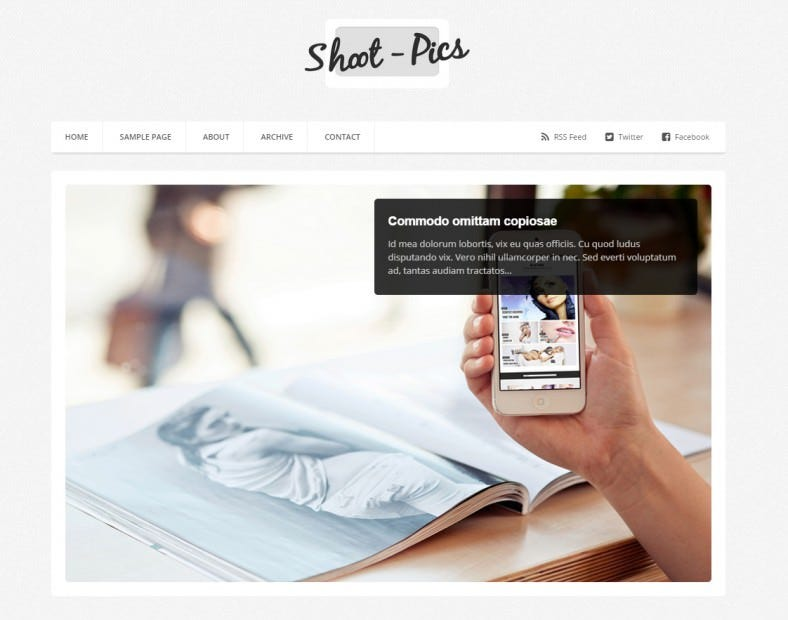 shoot pics blogger template 788x620