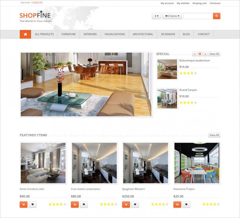 shopfine drupal commerce theme 788x717