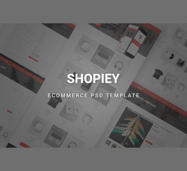 shopiey ecommerce psd template
