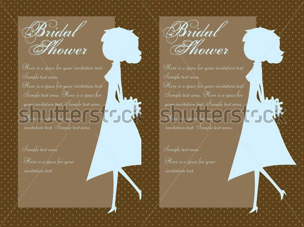silhouette wedding shower invitation template