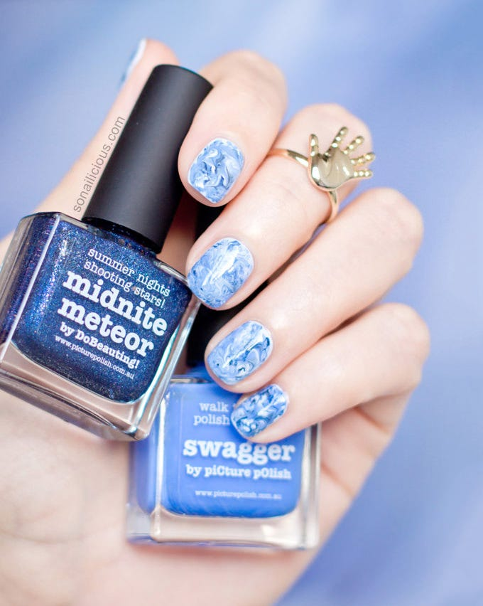 Simple Blue Nail Design