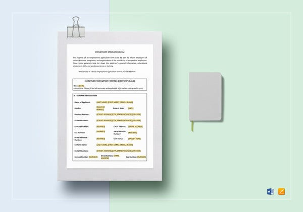 simple employment contract worksheet template