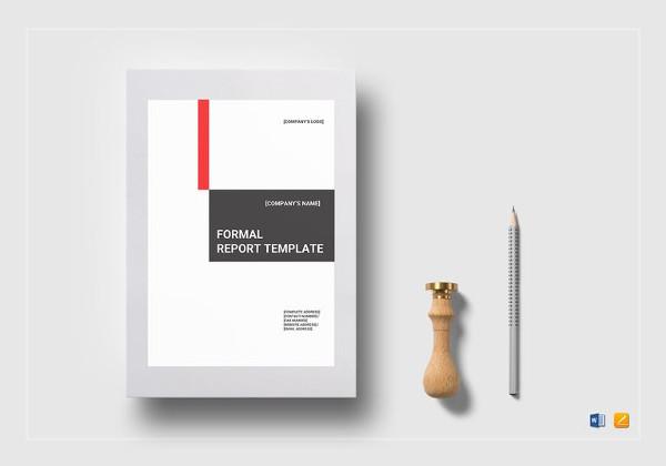 simple formal report template