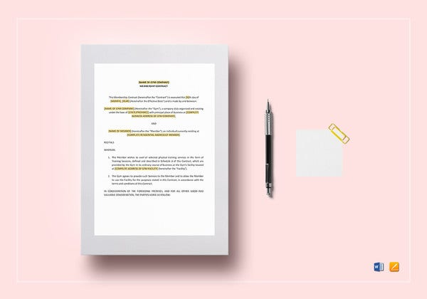 Coaching Contract Template   Free Word Pdf Documents Download