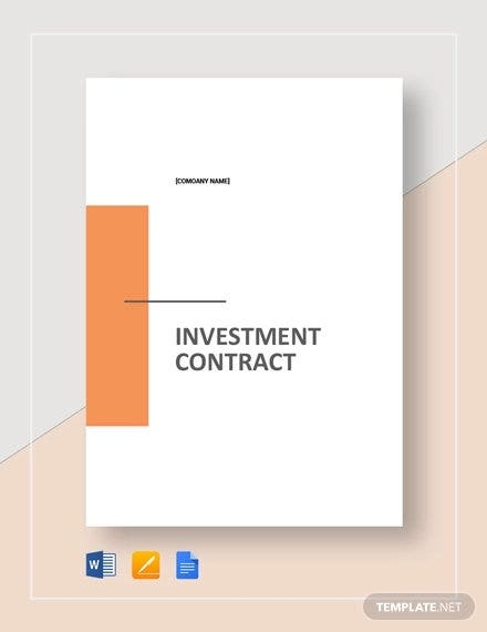 simple investment contract template1