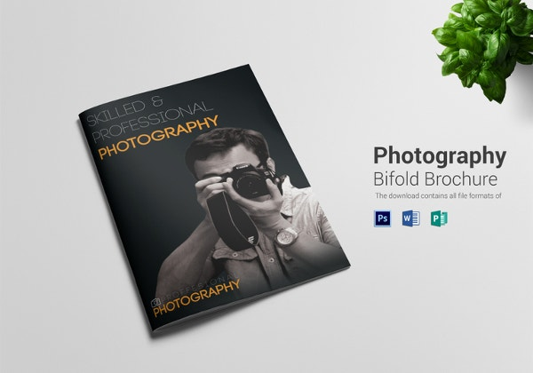 simple photography a4 bi fold brochure template